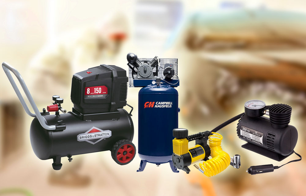 Air compressors of different sizes